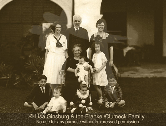 Abraham & Rosa Frankel with grandchildren